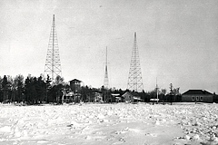 Lifesaving station radio towers