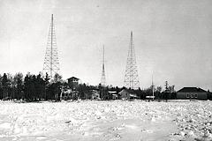 Lifesaving station radio towers