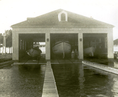 Lifesaving station with three boat bays.