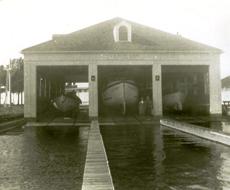 Lifesaving station with three boat bays.