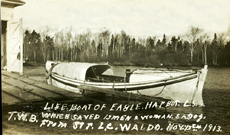 Lifesaving station Waldo rescue boat
