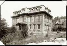 The Central School as it stood high upon the ridge over town. (KCHS)
